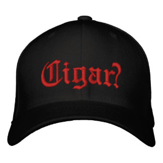 Cigar? Red stitching on front Embroidered Hat