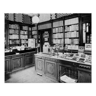 Cigar Shop, 1895. Vintage Photo Poster