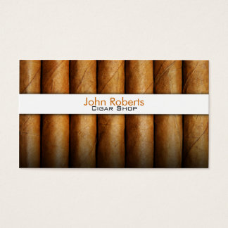 Cigar shop business card