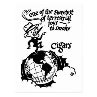 Cigar smoke terrestrial joy postcard