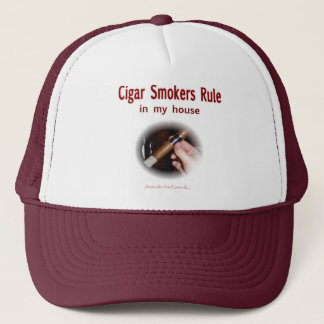 Cigar Smoker Trucker Hat