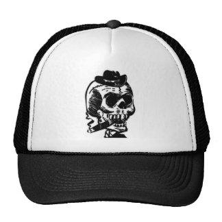 Cigar Smoking Skeleton Trucker Hat
