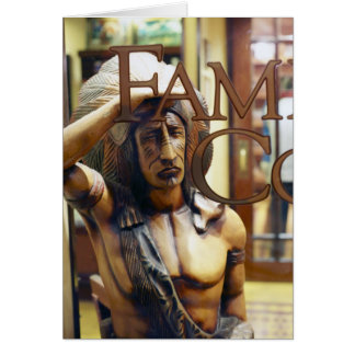 Cigar Store Indian Card