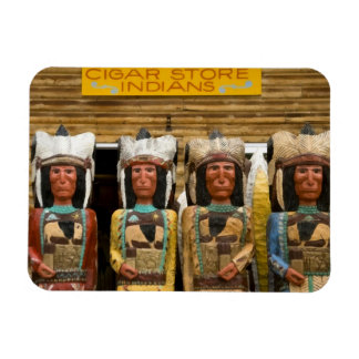 Cigar Store Indian statues Rectangular Photo Magnet