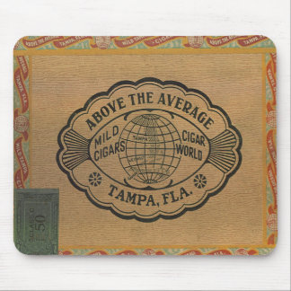 Cigar Vintage Box Lid Mousepad