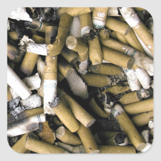 Cigarette Butts Square Sticker
