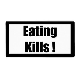 Cigarette Label Spoof - Eating Shipping Label