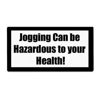 Cigarette Label Spoof - Jogging CB Shipping Label