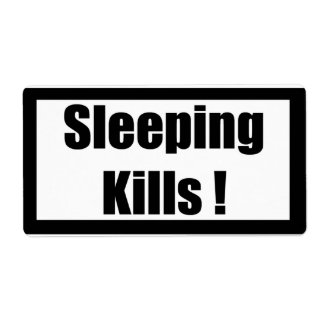Cigarette Label Spoof - Sleeping Shipping Label