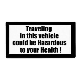 Cigarette Label Spoof - Traveling Shipping Label