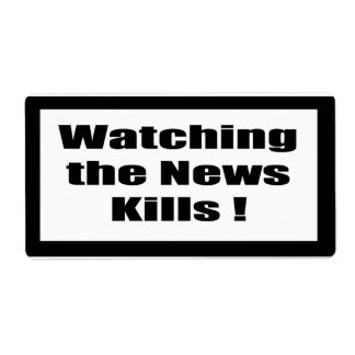 Cigarette Label Spoof - Watching News Shipping Label