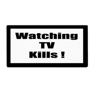 Cigarette Label Spoof - Watching TV Shipping Label