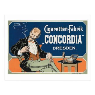 "Cigaretten Fabrik ""Concordia"" c.1898 Vintage Postcard"