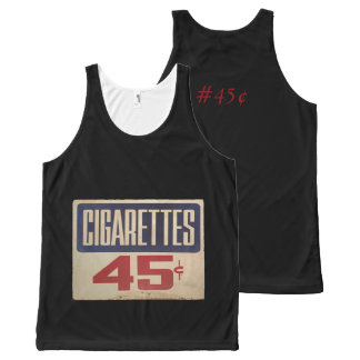 cigarettes 45¢ All-Over-Print tank top