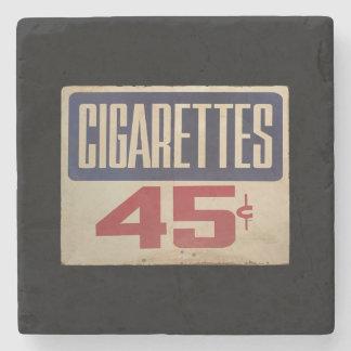 cigarettes 45¢ stone coaster