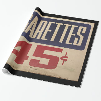 cigarettes 45¢ wrapping paper