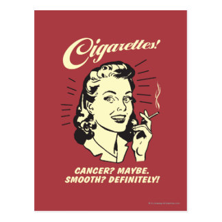Cigarettes: Cancer Maybe Smooth Def. Postcard