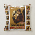 Cigarillos Privados Throw Pillow