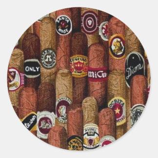 Cigars Classic Round Sticker