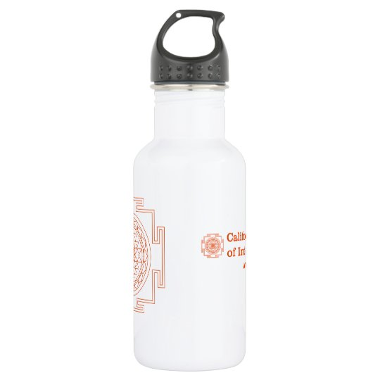 CIIS Water Bottle Orange Logos
