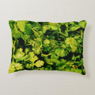 Cilantro / Coriander Leaves Accent Pillow