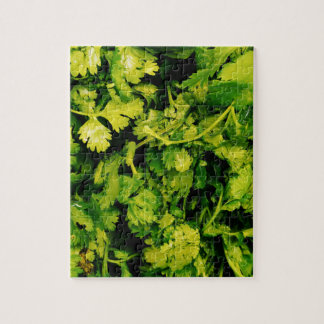 Cilantro / Coriander Leaves Jigsaw Puzzle