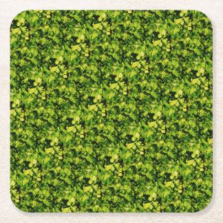 Cilantro / Coriander Leaves Square Paper Coaster