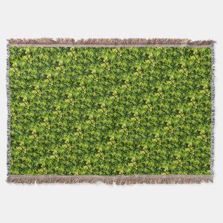 Cilantro / Coriander Leaves Throw Blanket