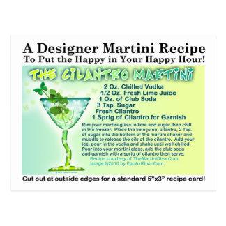 Cilantro Martini Recipe Postcard