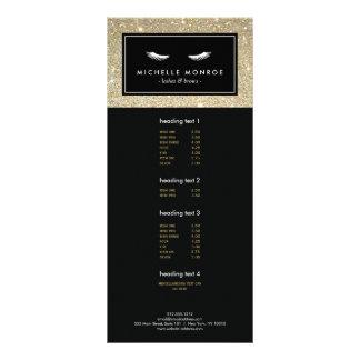 Cils avec la carte de support de scintillement cartons d'informations  10 cm x 22,9 cm