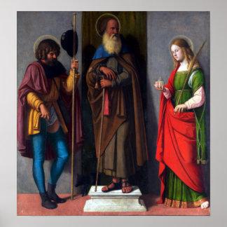 Cima da Conegliano Saints Roch Anthony Abbot Poster