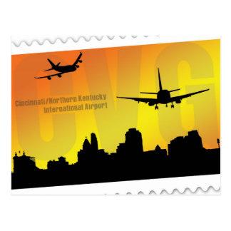 Cincinnati airport CVG postcard