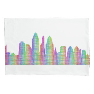 Cincinnati city skyline pillowcase