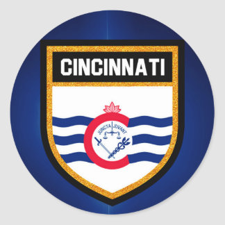 Cincinnati Flag Classic Round Sticker