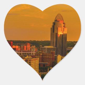 Cincinnati Golden Heart Sticker