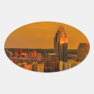 Cincinnati Golden Oval Sticker