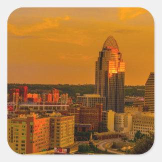 Cincinnati Golden Square Sticker