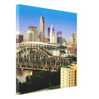 Cincinnati in Blue Canvas Print
