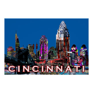 Cincinnati in graffiti poster