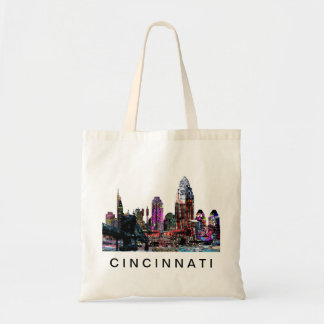 Cincinnati in graffiti tote bag