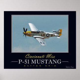 Cincinnati Miss P-51 Mustang Poster