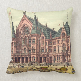 Cincinnati Music Hall 1879 Throw Pillow