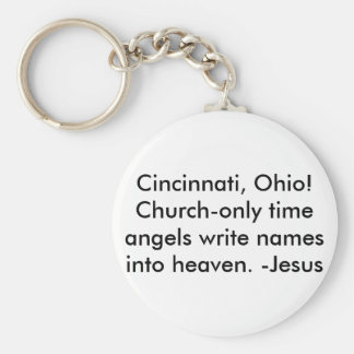 Cincinnati, Oh/Keychain-Be a witness! Basic Round Button Keychain