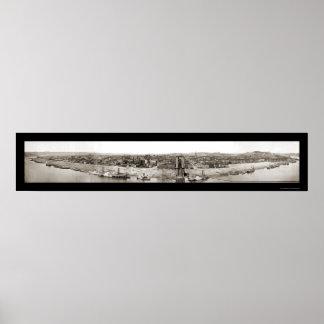 Cincinnati OH Panorama Photo 1866 Poster