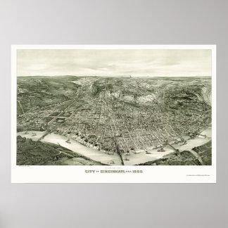 Cincinnati, OH Panoramic Map - 1900 Poster