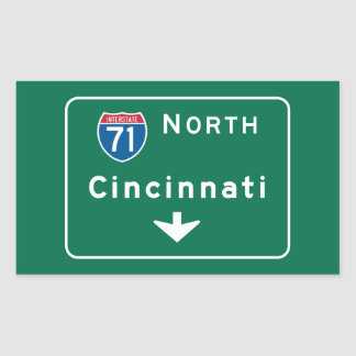 Cincinnati, OH Road Sign Sticker