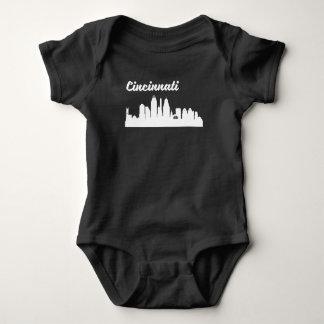 Cincinnati OH Skyline Baby Bodysuit