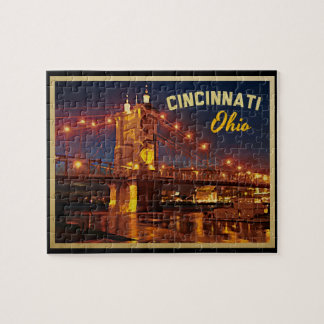 Cincinnati Ohio Bridge Jigsaw Puzzle