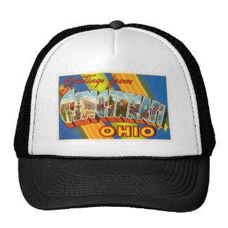 Cincinnati Ohio OH Old Vintage Travel Souvenir Trucker Hat