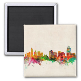 Cincinnati Ohio Skyline Cityscape Square Magnet